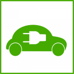Img of Green EV with Plug Cutout Icon