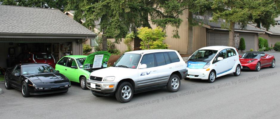 Image of an electric Toyota RAV 4