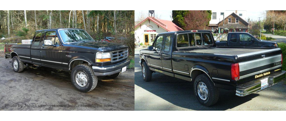 John Lussmyer S 1995 Ford F250 Conversion It Looks The Same Before And After But Sure Runs Cleaner Electrified