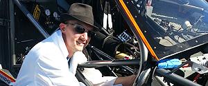 Img of Stephen Johnsen working on the Shock & Awe Electric Racecar