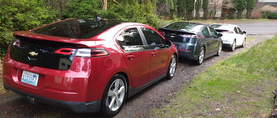Img of Lee Howard's Family of Chevy Volts